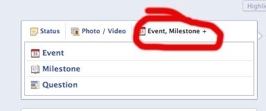 facebook milestones